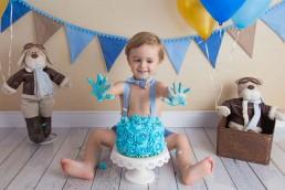 bolo e bebe ensaio smash the cake